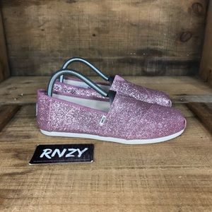 Toms Pink Sparkle Sneakers